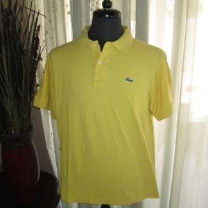 Yellow Lacoste Polo Shirt, w/Gator, Good Condition